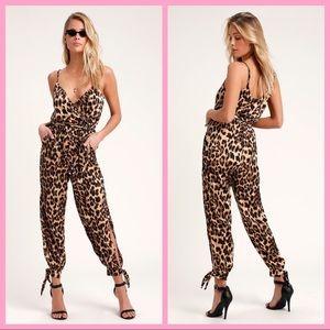 """LULU'S   """"Babe Squad"""" Leopard Print Jumpsuit"""